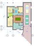 0 mångfärgade plan för golvhus Royaltyfri Bild
