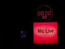 0 mic в реальном маштабе времени Стоковое Фото