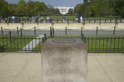 0 Milepost near White House Royalty Free Stock Photo
