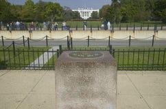 0 Milepost vicino alla Casa Bianca  Fotografia Stock Libera da Diritti