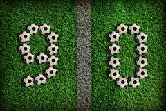 0 nummer för 9 fotboll Fotografering för Bildbyråer