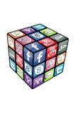 0 social v2 кубика rubic иллюстрация вектора