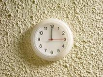 00 12 ρολόι μ.μ. Στοκ Εικόνα