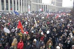 000 100大道连接莫斯科拒付集会sakharov 库存图片