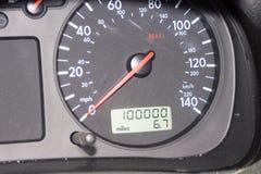 000 100 mile odometer Royaltyfri Foto