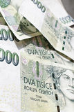 000 2 представляют счет чехословакский koruna Стоковое Изображение