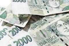000 2 rachunków Czech koruna Fotografia Royalty Free