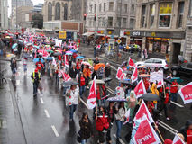 000 30位教育家德国罢工 库存照片