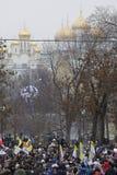 000 50 som bolotnayaen sammanfogar den moscow protesten, samlar fyrkanten Royaltyfria Bilder