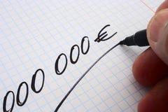 000000欧元 库存照片