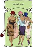 0001 sztuki nouveau royalty ilustracja