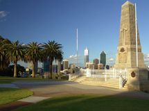 0008 ww1 monumento Perth Fotografía de archivo