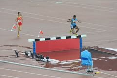 000m 16$ες 3 γυναίκες steeplechase Ασιατ&iot Στοκ Φωτογραφία