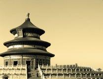 001北京天堂tian棕褐色的寺庙 免版税库存图片