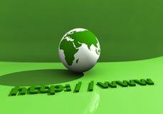001地球万维网 图库摄影