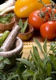 001 τα μαγειρεύοντας ιταλ&iota Στοκ Εικόνες