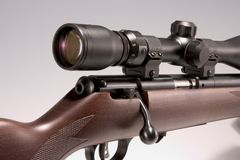001 17 hmr rifle with scope Stock Image