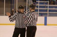 001 hockeyofficiell Arkivfoto