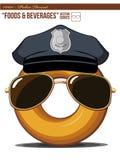 0011 полиция f донута d Стоковые Изображения