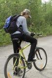 0014骑自行车 免版税库存照片