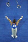 002体操运动员环形 免版税库存照片