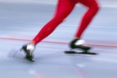 002张滑冰的速度 免版税库存照片