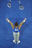 002 кольца гимнаста Стоковые Фотографии RF