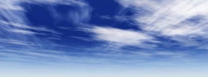 002 10000 b超la天空 免版税库存图片