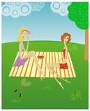 002 dziewczyny ilustracja wektor