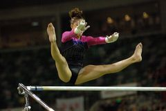 002 gimnastyczki nierównej baru Zdjęcie Royalty Free