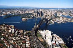 002 Sydney harbour Obrazy Stock