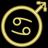 002 zodiak nowotworów royalty ilustracja