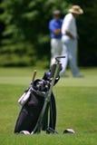 0031 bolsas de golf palos 图库摄影