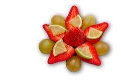 00312 - Erdbeerstern - weißer Hintergrund stockbild