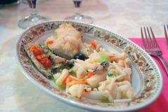 004道开胃菜混杂的海鲜 图库摄影