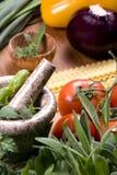 004 τα μαγειρεύοντας ιταλ&iota Στοκ Εικόνες
