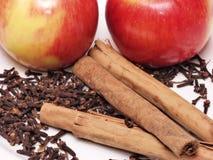004 kanelbruna äpplen Arkivfoton