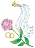 006 vårt bröllop Royaltyfri Illustrationer