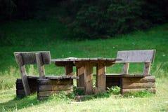 007威严的长凳意大利公园val visdende 库存图片
