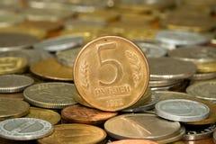 008枚硬币货币卢布 库存照片