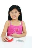 008 asiatiska barnbarn Arkivbilder