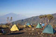 009个阵营小屋kilimanjaro shira 免版税库存照片
