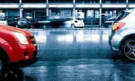 00A-1509 MONTIB CAR URB RAIN X10 Royalty Free Stock Photography