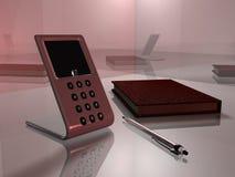 01个办公室可视电话 库存图片