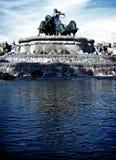 01个喷泉gefion 免版税库存照片