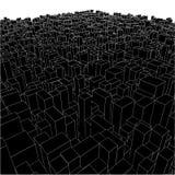 01个抽象配件箱城市多维数据集都市向 免版税库存照片