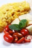 01个早餐肥胖健康低 库存图片