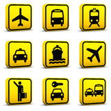 01个机场图标被设置的样式 免版税库存图片