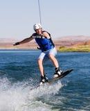 01个湖wakeboarding人的powell 图库摄影