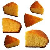 01个蛋糕桔子 库存照片